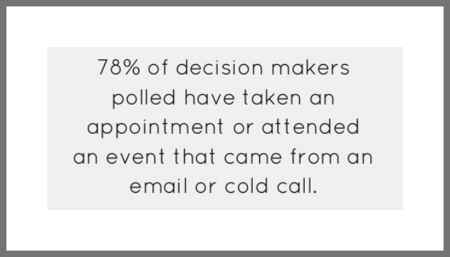 cold email call decision makers