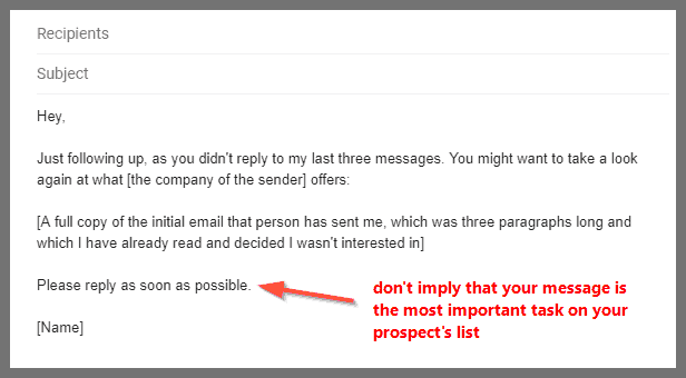 6 follow up email samples to use after you get no response | LeadGibbon